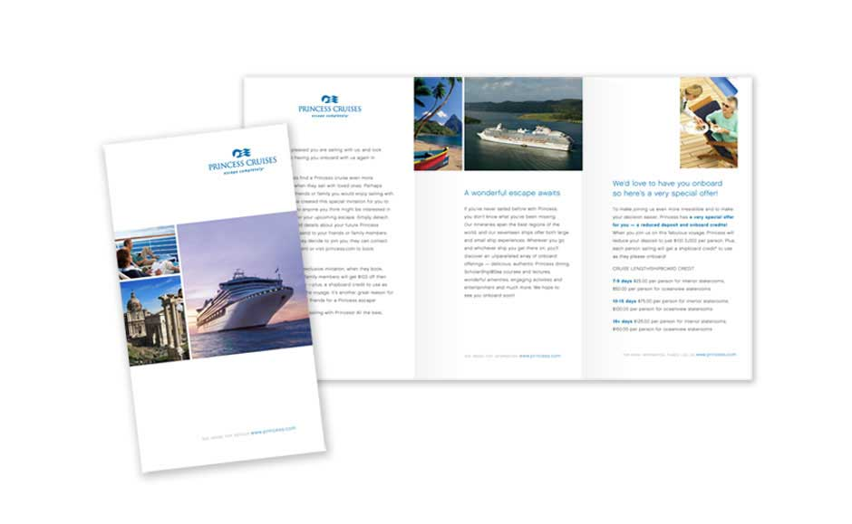 Brochure Designs for Princess Cruises