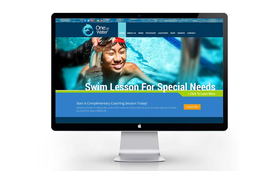 Professional Web Design for One With The Water