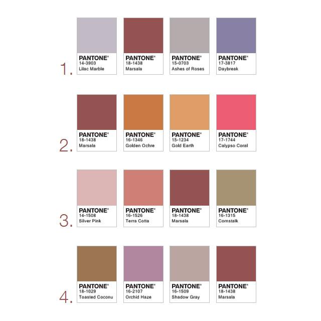Using Pantone Marsala For Packaging Design Color Palettes
