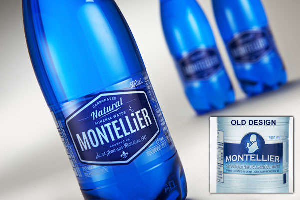 Montellier Water Bottle Packaging Design