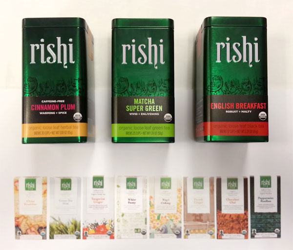 Rishi Tea Packaging Design