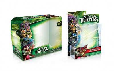 Toy Packaging Design for Teenage Ninja Mutant Turtles
