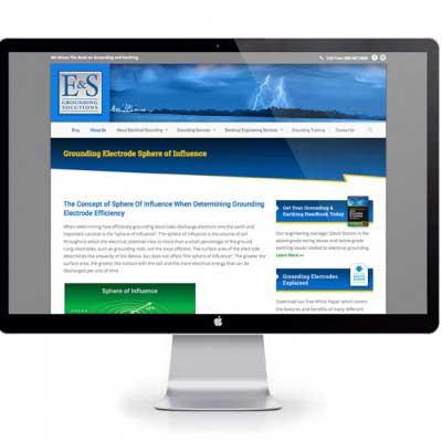 Website Design for E&S Grounding Solutions
