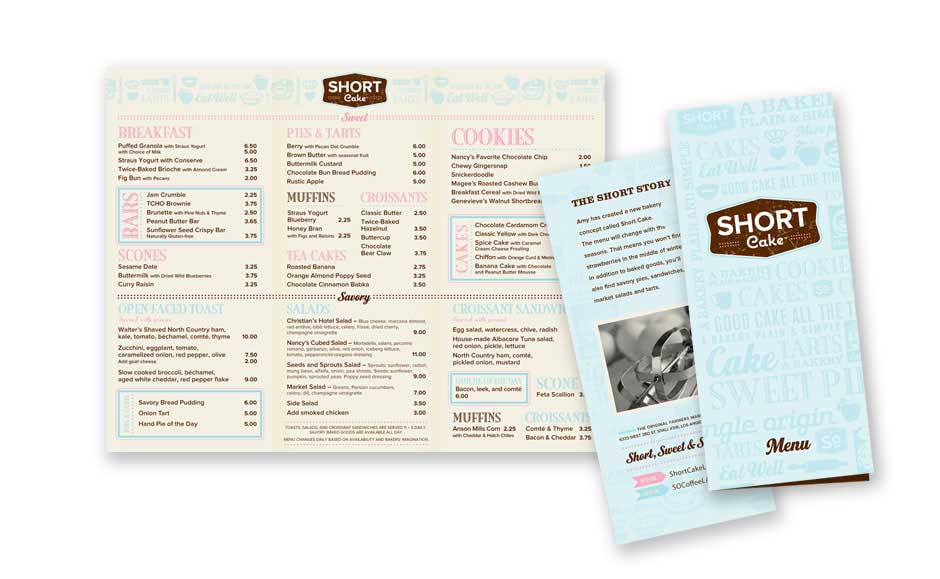 Brochure Designs for Short Cake