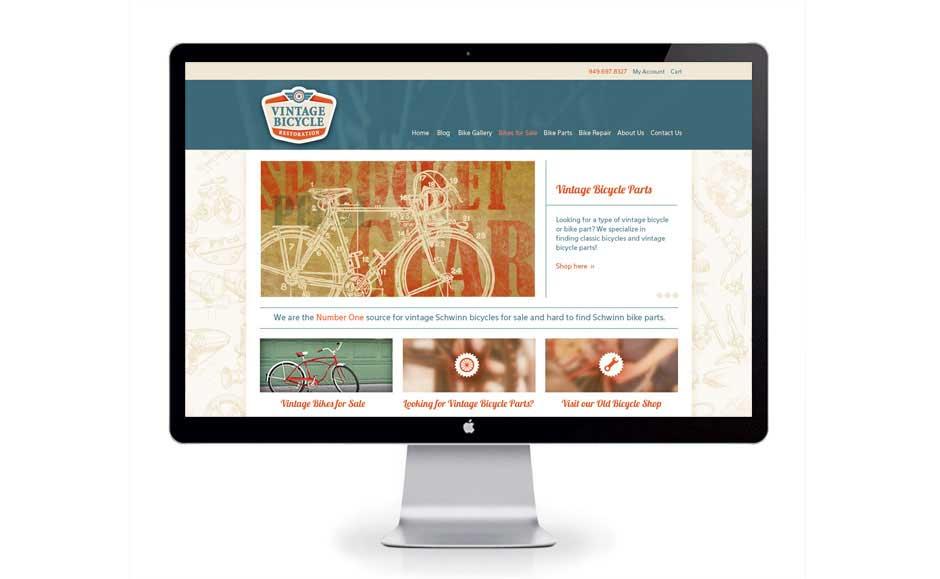 Company Website Design for Vintage Bicycle Restoration
