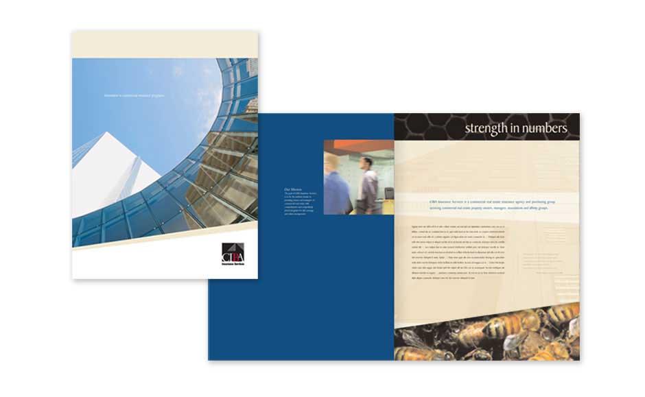 Brand design brochure design web design for ciba insurance bystudio corporate brochure design for ciba altavistaventures Image collections