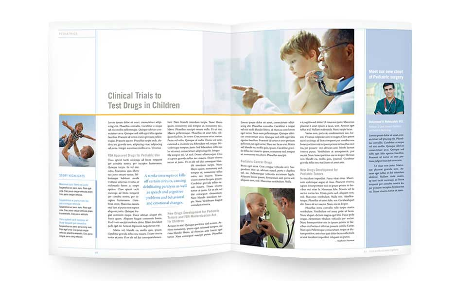 Corporate Brochure Designs for UCLA