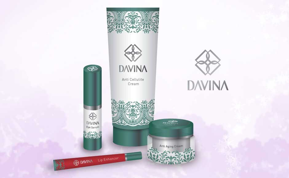 Cosmetic Packaging Design for Davina