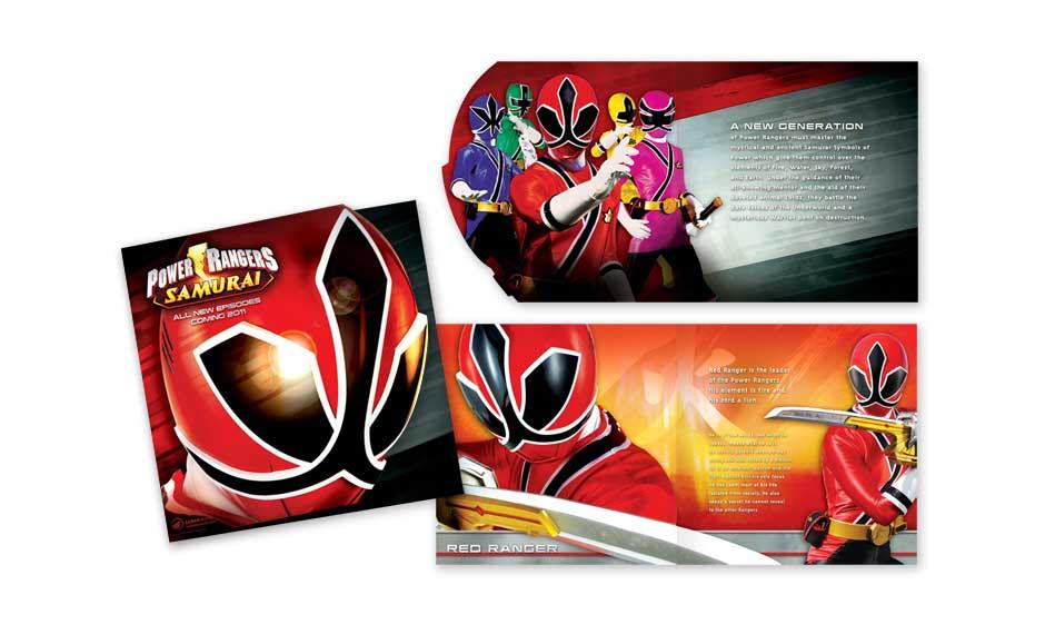 Custom Brochure Designs for Power Rangers