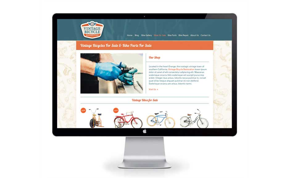 Web Design and Branding for Vintage Bicycle Restoration