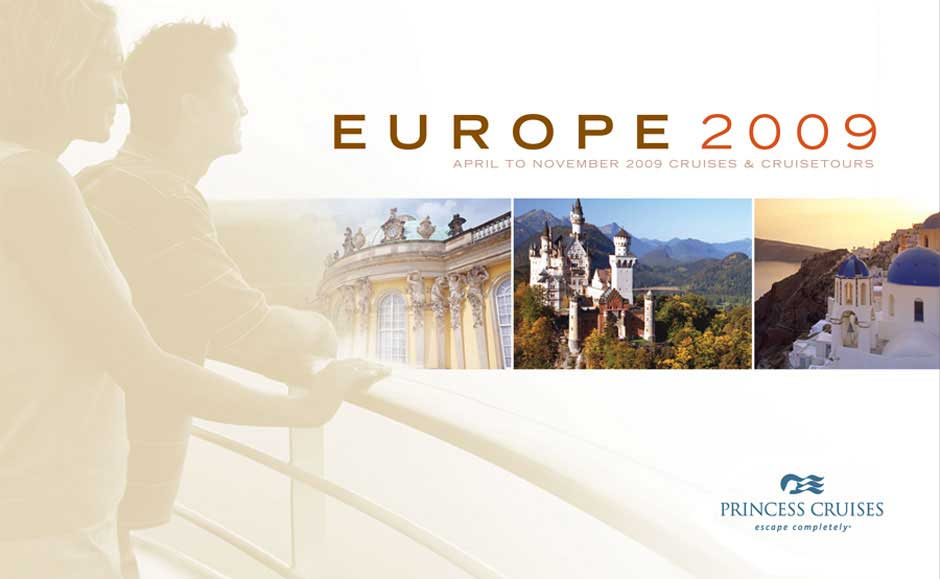 Professional Brochure Design for Princess Cruises