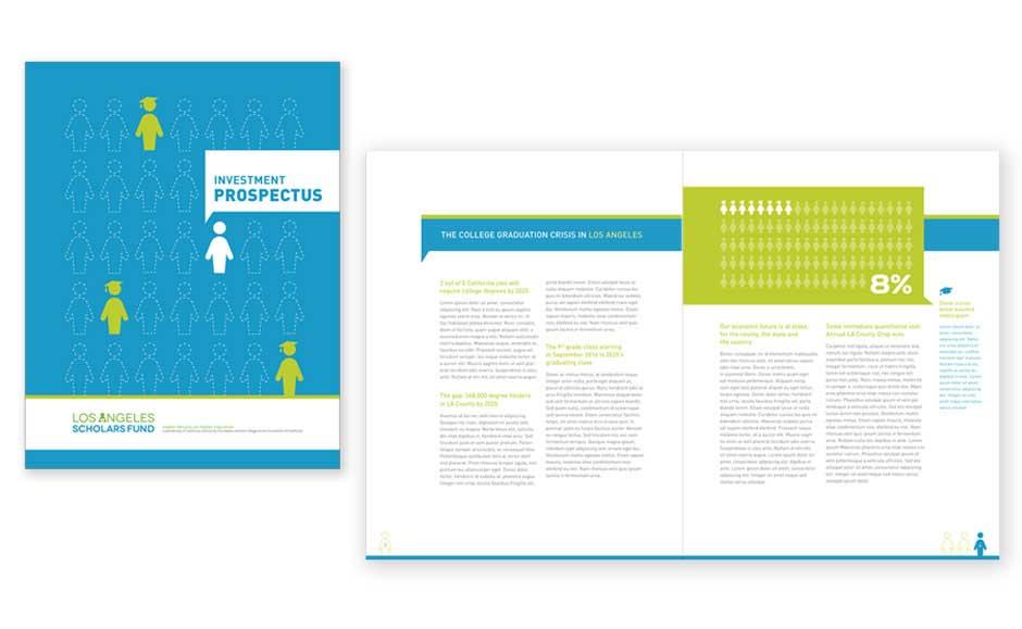 Corporate Brochure Design for LA Scholarship