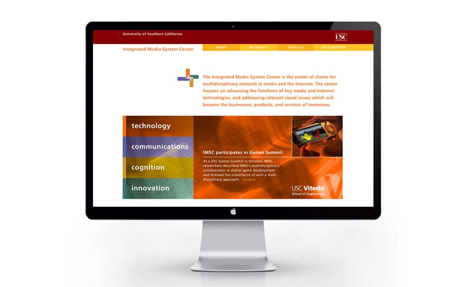 Professional Web Design for USC