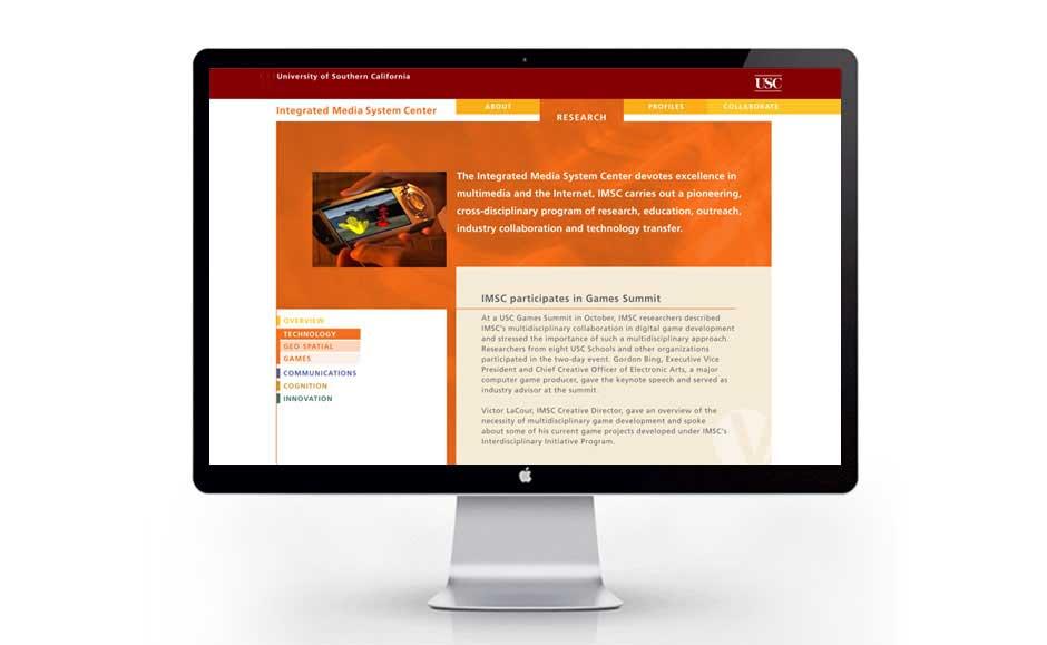 Creative Website Design for USC