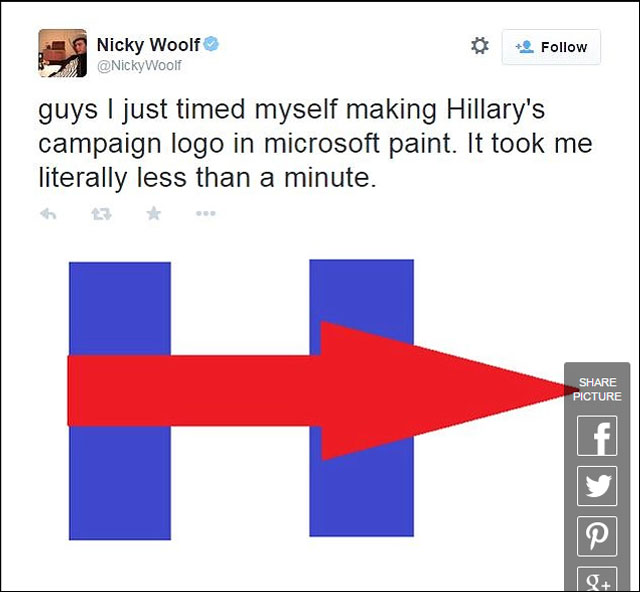 is the hillary clinton logo inspiring or a dud