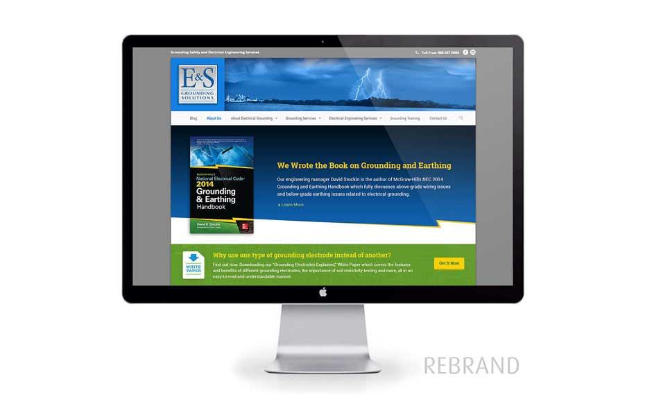 Web Design & Rebranding for E&S Grounding Solutions