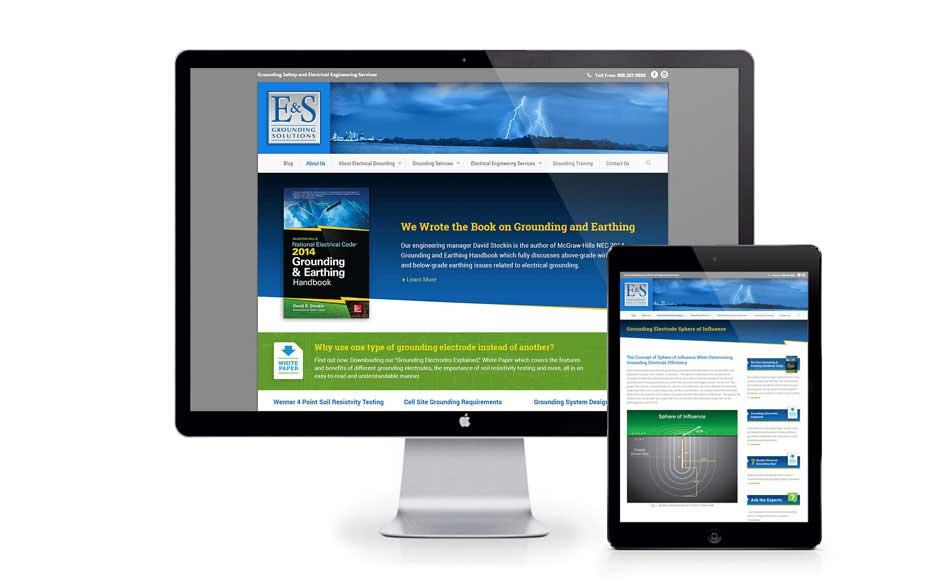 Web Design for E&S Grounding Solutions